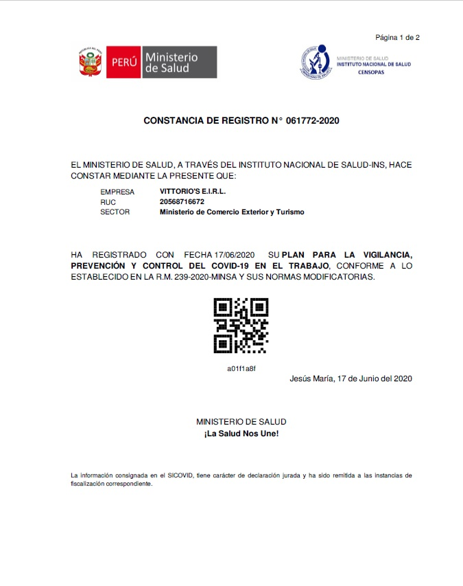 CONSTANCIA DE REGISTRO 1