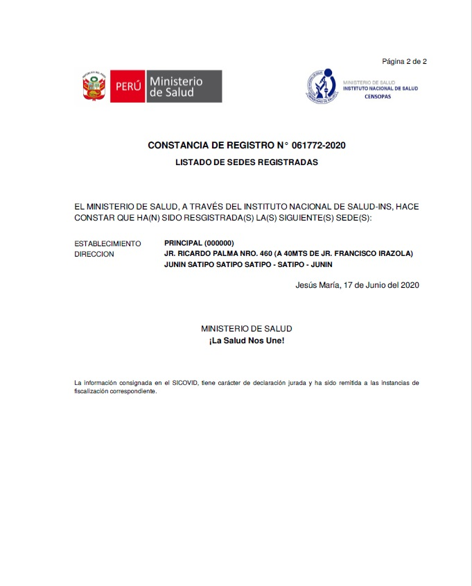 CONSTANCIA DE REGISTRO 2